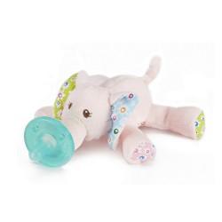 Chupete con peluche WubbaNub® - Elefante Ella Bella
