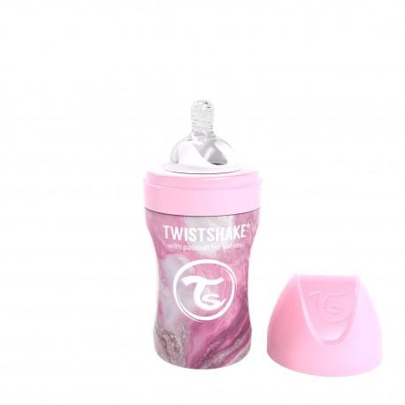 Vaso con Bombilla Twistshake Blanco 360ml 12+m