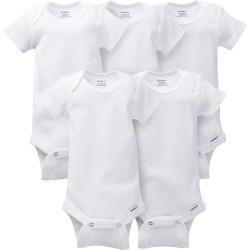 Gerber Set de 5 Bodys Blancos