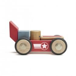 Tegu Daredevil bloques magnéticos de madera