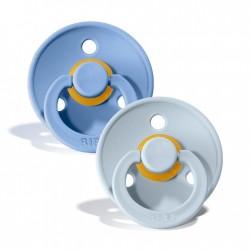 Chupetes Bibs Colour Sky Blue Baby Blue 6-18m Set 2u