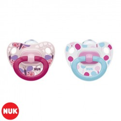 Set de 2 Chupetes Happy Days NUK® Classic 0-6m