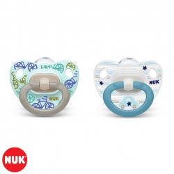 Set de 2 Chupetes Happy Days NUK® Classic 6-18m