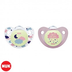 Set de 2 Chupetes Night & Day NUK® Nena 0-6m