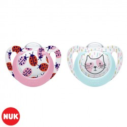 Set de 2 Chupetes Genius Color NUK® Nena 0-6m