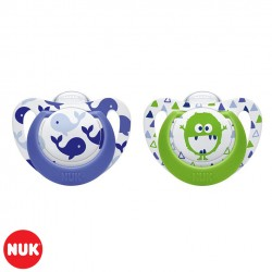 Set de 2 Chupetes Genius Color NUK® Nene 0-6m