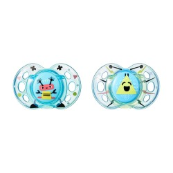 Pack 2 Chupetes Tommee Tippee Fun Style 6-18m Azul