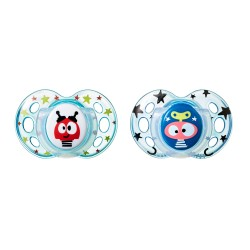 Pack 2 Chupetes Tommee Tippee Fun Style 18-36m Azul