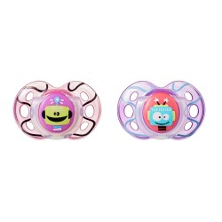 Pack 2 Chupetes Tommee Tippee Fun Style 18-36m Violeta
