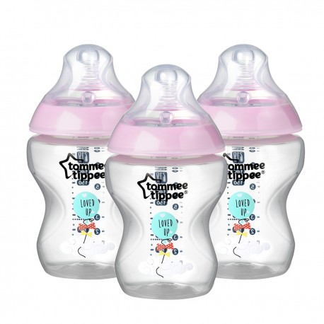 Pack 3 Mamaderas Tommee Tippee Closer to Nature 0m+ Nena