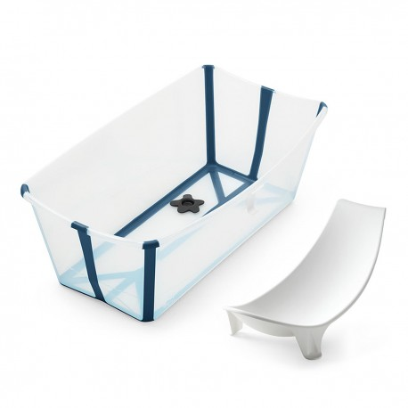 Bañera Plegable Stokke® Flexi Bath Transparente Azul + Reductor