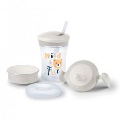3 Vasos NUK Evolution Cups - Learn to Drink Set 6m+