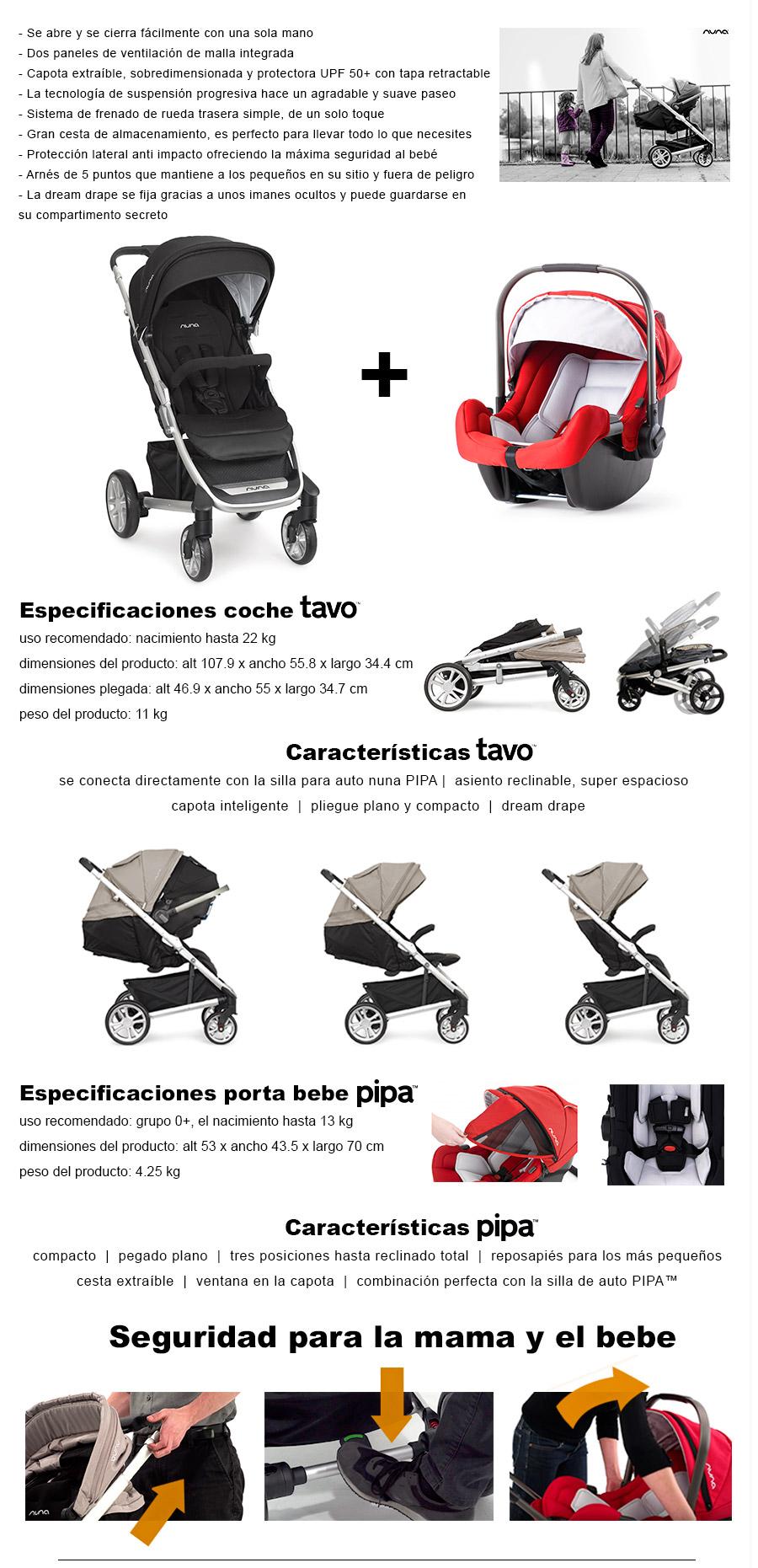Cochecito Travel System Nuna Tavo Caviar + Huevito Pipa | Tinoky ...